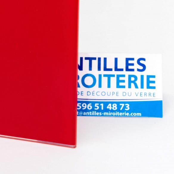 Crédence Lacobel Rouge lumineux